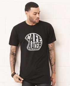 Cafe Racer Helmet Unisex T-shirt by Apparelized - 4.5 oz., pre-shrunk 100% combed ringspun cotton, 40 singles - Fashion fitted silhouette - Double-needle sleeves and bottom hem - Single-needle stitche