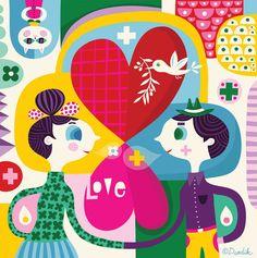 Hearts - illustration by helen dardik