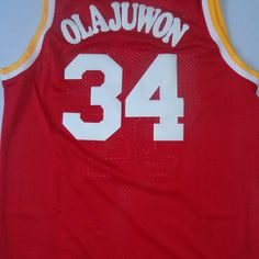 Free Shipping,#34 Hakeem Olajuwon Rev30 New Material colleage all star Basketball jersey,Embroidery logos,Size S-2XL,Mix Order $25.98
