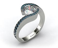 tension setting engagement rings - Google Search