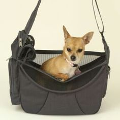 Cross Body Pet Tote $44.95 Handy, comfy and fashionable dog sling bags at www.petpossibilities.com. Visit us now or click save button below to view later.