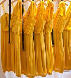 Bright yellow dresses!