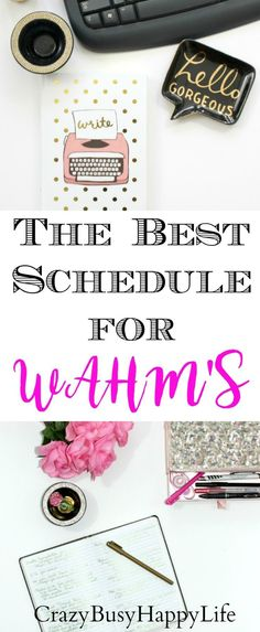 Work at home mom's WAHM's have special challenges. They have a house to take care of, kids to manage, and a business to run. Try this great tips hacking tips to help you get more done during your day. I've been using time blocking for years and love how p