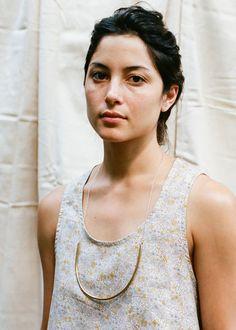 UGH THIS NECKLACE. Anna Varendorff Brass and Silver Necklace - Large U – Primoeza