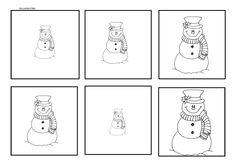 Sneeuwpoppen van klein naar groot leggen.