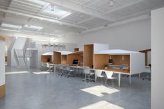 Hybrid office by Edward Ogosta Architecture, Los Angeles #chill #room #Confession meeting #pod #reduce #noise from #phone in  #open-space #Co-Working #idden place #privacy #skype call #conference #phone call #noise #suppressor #loud #speak #office interior #office furniture #stall #cabin #sound #buzz #call #calling