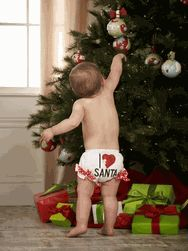 """Santa will never be able to resist a toddler in the Mud Pie I Love Santa Bloomer! Cute (and practical!), it's one of LollipopMoon.com's favorite seasonal """"finds""""! Ideal for trendy kids and the adults who love them."""