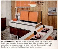 See 22 vintage kitchen ideas - from funky fridges to creative cabinetry - plus other retro appliances and home decor we don't see much anymore. 60s Kitchen, Vintage Kitchen, Kitchen Decor, Kitchen Design, Kitchen Ideas, Retro Appliances, Small Appliances, Old Fashioned Kitchen, Vintage Decor