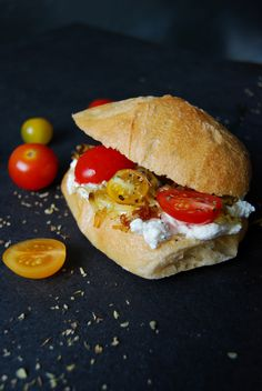 Tomato, Leek and Oregano Cream Cheese Sandwich ° eat in my kitchen