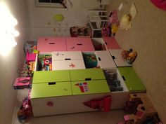 Ikea Stuva playroom combination, lots of shelves inside for toys