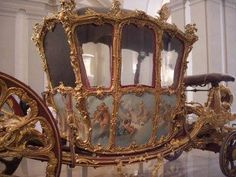The coach, preserved in Vienna, in which Marie-Antoinette rode to her wedding.