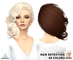 Miss Paraply: Stealthic Vivacity hair retextured - Sims 4 Hairs - http://sims4hairs.com/miss-paraply-stealthic-vivacity-hair-retextured/