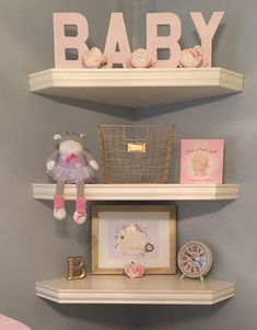 For Blair's blushing nursery, we wanted blush pink and gold accents to create a soft, sophisticated and angelic look, and aimed to keep it simple and sweet.