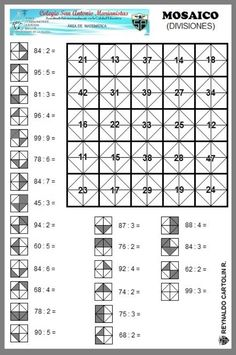 Coding For Kids, Math For Kids, Fun Math, Math Games, Math Activities, Mental Maths Worksheets, Math Resources, Algebra Basica, Math Division