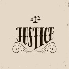 Justice #typography