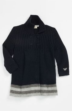 Armani Junior Cardigan (Infant) available at #Nordstrom