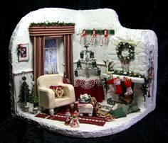 "Mini Christmas room. lots of close up pictures. Z ""weisse_weihnacht_01"""