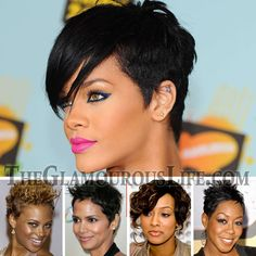 Sassy Short Hair Styles Women | 2009 Black Celebrity Hairstyle Trends are short sassy haircuts. If you ...