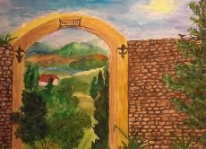 Tor zur Provence / Oil on Canvas painted by Nati Merlin