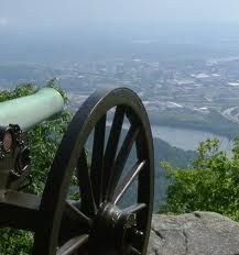 Chattanooga from the top of Lookout Mountain where the Battle Above the Clouds was fought
