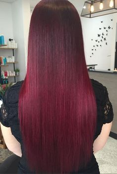 Dark red hair color - Saç Modelleri - Saç Renkleri - hair color ideas (27)