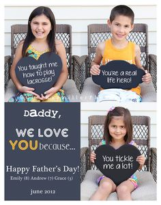 Loved this idea! We made 3 copies: one for my husband and one for each Grandpa. They were a big hit!
