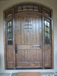Knotty Alder Door...so much character!