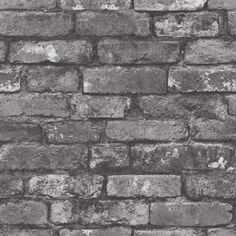 Shop Brewster Home Fashions Brewster Wallcovering Oxford Brickwork Slate Exposed Brick Wallpaper at Lowe's Canada. Find our selection of wallpaper at the lowest price guaranteed with price match. Exposed Brick Wallpaper, Brick Effect Wallpaper, Tile Wallpaper, Exposed Brick Walls, Embossed Wallpaper, Wallpaper Samples, Geometric Wallpaper, Textured Wallpaper, Wallpaper Roll
