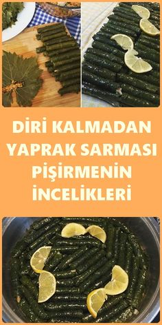 Yaprak Sarmanın İncelikleri Sarma ve dolma – The Most Practical and Easy Recipes Turkish Recipes, Ethnic Recipes, Food And Drink, Cooking Recipes, Menu, Yummy Food, Bread, Finesse, Vegan Recipes