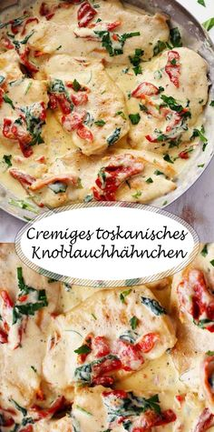 Cremiges toskanisches Knoblauchhähnchen Cremiges toskanisches Knoblauchhähnch… Creamy Tuscan Garlic Chicken Creamy Tuscan Garlic Chicken It tastes like in the restaurant The post Creamy Tuscan Garlic Chicken appeared first on Children's Birthday Ideas. Tuscan Garlic Chicken, Garlic Chicken Recipes, Spinach Recipes, Garlic Ideas, Creamy Garlic Pasta, Good Food, Yummy Food, Eat Smart, Toscana