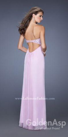 La Femme 19740 Prom Dress, from Golden Asp's selection of open back #prom dresses. Visit our #dress shop in Bensalem, Pennsylvania, or shop for open back dresses online at http://www.goldenaspprom.com/shop/dresses/style/open-back-prom-dresses #prom2015 #prom2k15