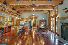Take a Tour of a Cabin in the Cascade Mountains | 2016 | HGTV >> http://www.hgtv.com/design/ultimate-house-hunt/2016/bringing-the-outside-in/bringing-the-outside-in-secluded-cabin-in-north-bend-wash?soc=pinterest