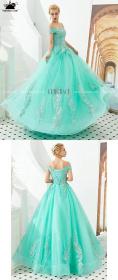 Off Shoulder Aqua Ball Gown Formal Prom Dress For Women Ref#EZ32335 at GemGrace. #PromDresses Shop now to get $10 off. Pro custom-made service for wedding dress, formal dress. View Prom Dresses,Quinceanera Dresses,Blue Prom Dresses,Ball Gown Prom Dresses,Formal Dresses,Prom Dresses Off Shoulder for more ideas. Click to shop now! #BuyablePromDresses