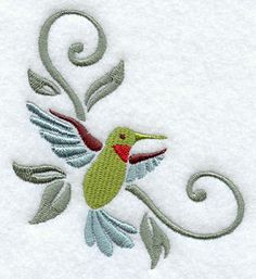 Art Nouveau Hummingbird Corner