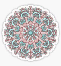 mandala#31 on pink background Sticker