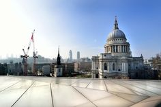 St Paul's Cathedral seen from One New Change shopping centre roof terrace
