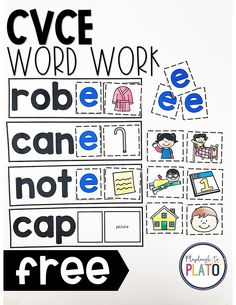 What a fun CVCe game for kindergarten or first grade. Kids would love playing this as a literacy center or word work station. It would be a great Daily Five activity too! #CVCegames#dailyfive #kindergartenliteracycenter #firstgradeliteracycenter