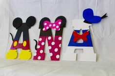 Mickey Mouse Clubhouse Wooden Letters Minnie Mouse Goofy