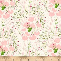 Heather Ross Far Far Away Frogs Pink Fabric