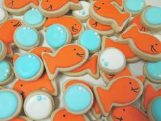 Mini Gold Fish and Bubble Cookies by AuntieBeasBakery on Etsy