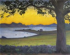 "Harald Oskar Sohlberg ""From VÆrvÅgen, The Fisherman's Cottage"", 1921 Modern Art, Contemporary Art, Fishermans Cottage, Sun And Stars, European Paintings, Art Auction, Landscape Art, Oil On Canvas, Fine Art"