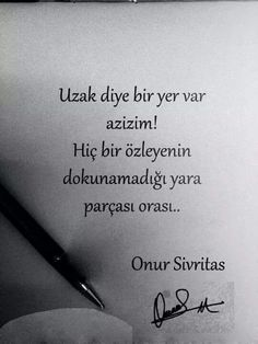 Uzak diye bir yer var azizim! Hiç bir özleyenin dokunamayacağı yara parçası orası. - Onur Sivritaş Picture Photo, Cool Words, Karma, Sentences, Tattoo Quotes, Poems, Tumblr, Love, Angel