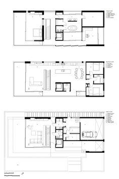 Flip Flop House - INFILL - fist floor = ground floor, elevator = closet, redo top floor for 3 reasonable bdrms