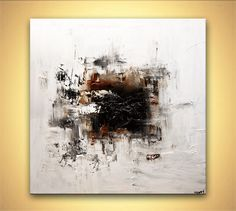 white abstract art modern abstract painting home decor