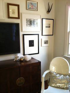 Turquoise: tv wall idea frames