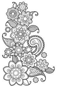 Pattern Coloring Pages, Adult Coloring Book Pages, Mandala Coloring Pages, Colouring Pages, Printable Coloring Pages, Coloring Books, Zentangle Patterns, Embroidery Patterns, Zentangles