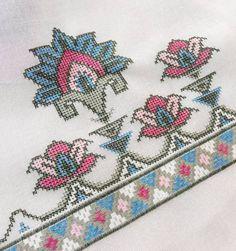 vuslat-ı rahman's media analytics. Celtic Cross Stitch, Cross Stitch Borders, Cross Stitch Flowers, Cross Stitching, Cross Stitch Embroidery, Cross Stitch Patterns, Baby Knitting Patterns, Hand Embroidery Designs, Embroidery Patterns