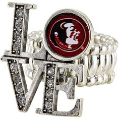 Florida State Seminoles (FSU) Womens Love Stretchy Ring