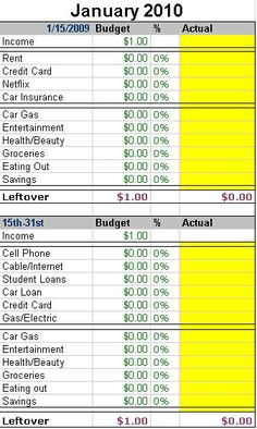 How To Track Your Spending & Make a Budget for Beginner's >> Saving Money > Budget Templates, Budgeting / Leslie Beslie