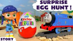 Thomas and Friends Kinder Surprise Egg Hunt with Wissper and Lion King -...